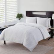 VCNY Nina Embossed Down-Alternative Comforter Set
