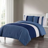 VCNY Edgemont Embossed Comforter Set