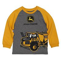 Boys 4-7x John Deere Tractor Wrap-Around Graphic Raglan Tee