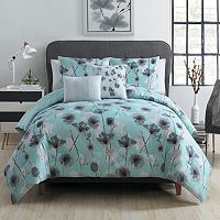 VCNY 5 pc Poppy Floral Comforter Set