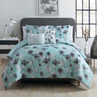 VCNY 5-piece Poppy Floral Comforter Set