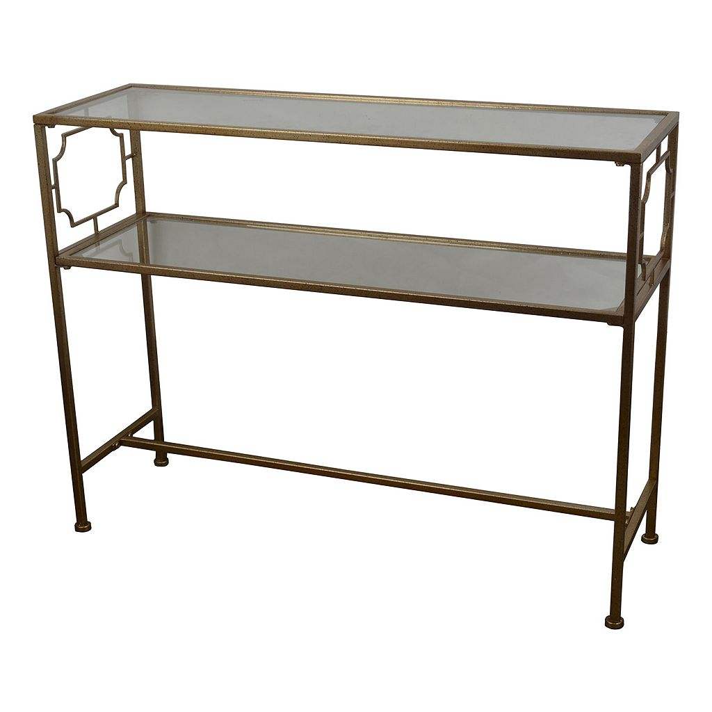 Decor Therapy Gold Finish Console Table