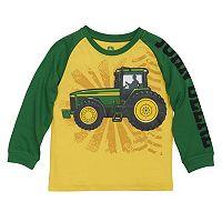 Boys 4-7x John Deere Tractor Raglan Tee