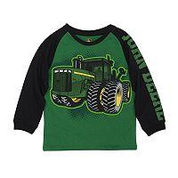 Boys 4-7x John Deere Tractor Graphic Raglan Tee