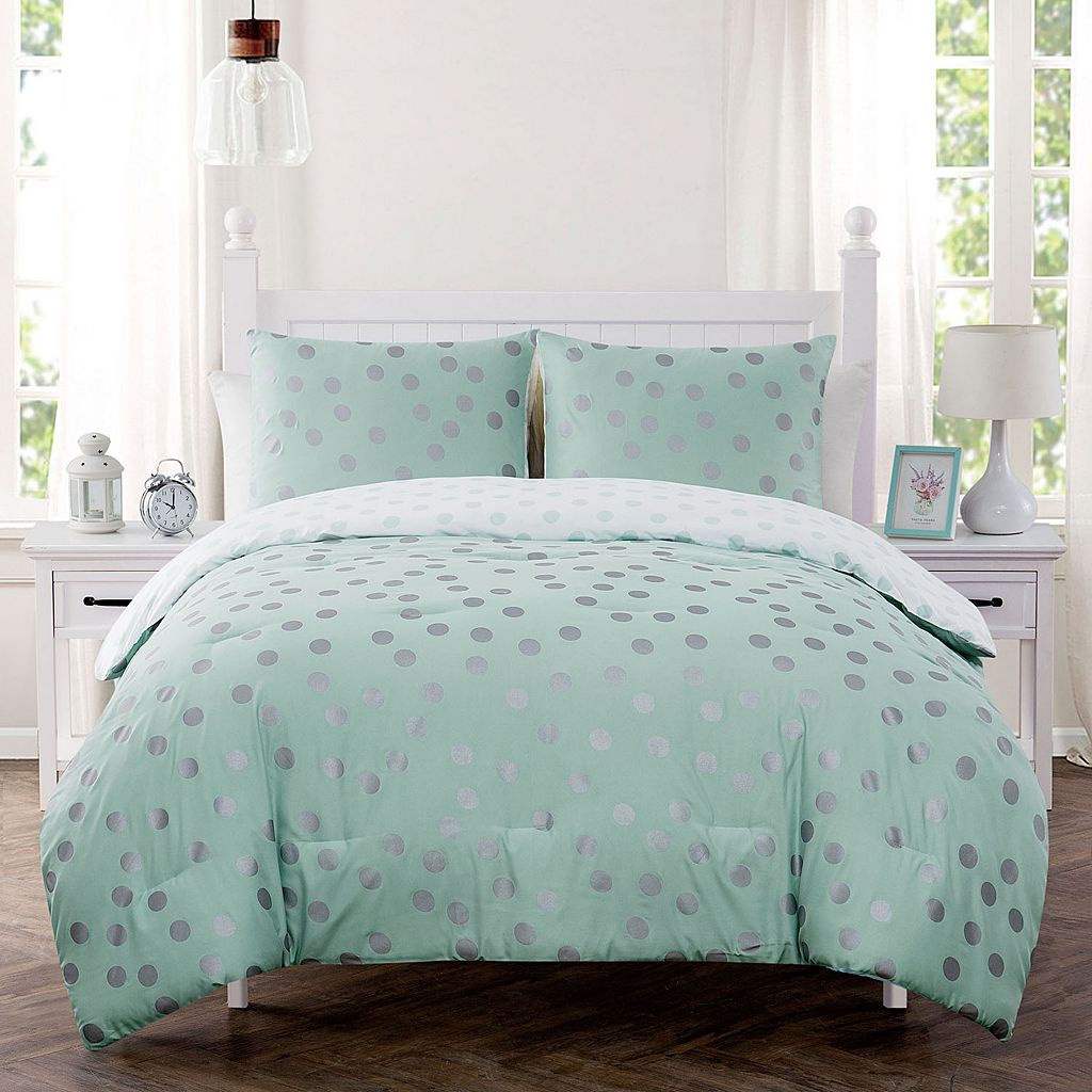 VCNY Dotty Metallic Comforter Set