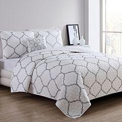 VCNY Moroccan Metallic Quilt Set