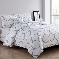 VCNY Moroccan Metallic Duvet Cover Set