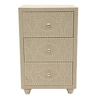 Decor Therapy Linen Nailhead Storage Chest