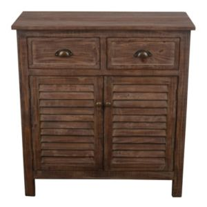 Decor Therapy Shutter Door Wood Storage Cabinet