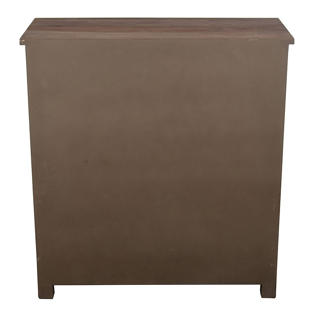 Decor Therapy Shutter Door Wood Storage Cabinet