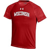 Boys 8-20 Under Armour Wisconsin Badgers Raglan Tee