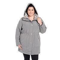 Plus Size Fleet Street Faux-Fur-Trim Anorak Jacket