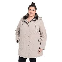 Plus Size Fleet Street Faux-Fur-Trim Anorak Jacket