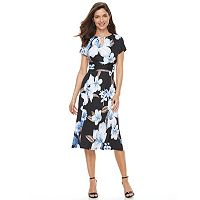 Women's Perceptions Floral Empire Shift Dress
