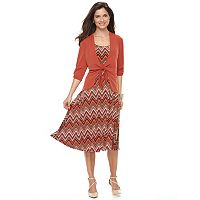 Women's Perceptions Cardigan & Dress Set