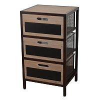 Decor Therapy 3-Drawer Chalkboard Storage Unit