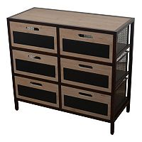 Decor Therapy 6-Drawer Chalkboard Storage Unit