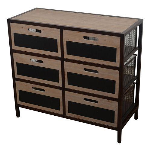 Decor Therapy 6-Drawer Chalkboard Storage Unit
