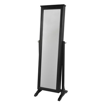 Decor Therapy Traditional Floor Mirror Jewelry Armoire