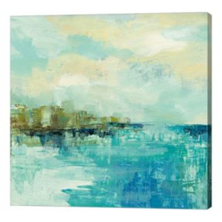 Metaverse Art Cliff Side Town Canvas Wall Art