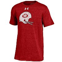 Boys 8-20 Under Armour Wisconsin Badgers Helmet Triblend Tee
