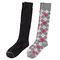 Girls 7-16 GOLDTOE 2 pkArgyle Knee High Socks