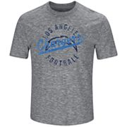 Big & Tall Majestic Los Angeles Chargers Slubbed Tee