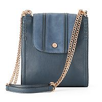 LC Lauren Conrad Parfum Flap Convertible Crossbody Bag