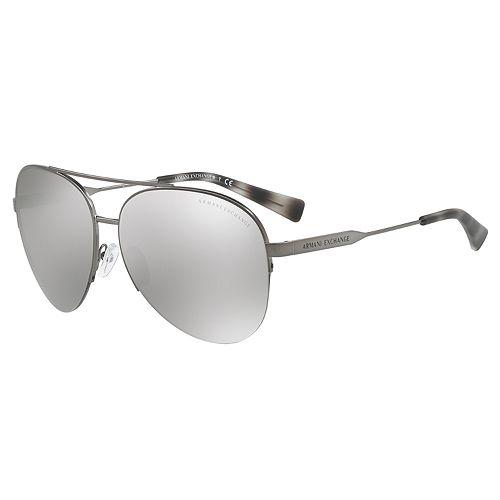 Armani Exchange AX2020S 60mm Aviator Mirror Sunglasses