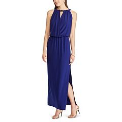 Petite Chaps Keyhole Surplice Maxi Dress