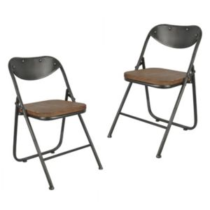 Decor Therapy Traditional Folding Chair 2-piece Set