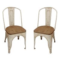 Decor Therapy Rustic Dining Chair 2 pc Set