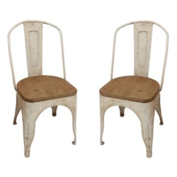 Decor Therapy Rustic Dining Chair 2-piece Set