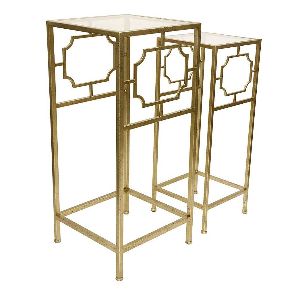 Decor Therapy Modern Accent Table & End Table 2-piece Set