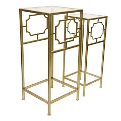 Decor Therapy Modern Accent Table & End Table 2 pc Set