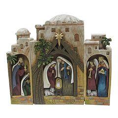 St. Nicholas Square® Nativity Scene Christmas Table Decor 3 pc Set