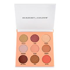 Academy of Colour Peach 9 Shade Fragranced Eyeshadow Palette