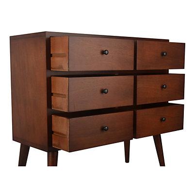 Decor Therapy Mid-Century Modern 6-Drawer Storage Chest