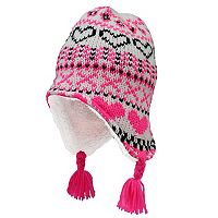 Girls 4-6x Igloos Fairisle Flap Fleece-Lined Knit Hat
