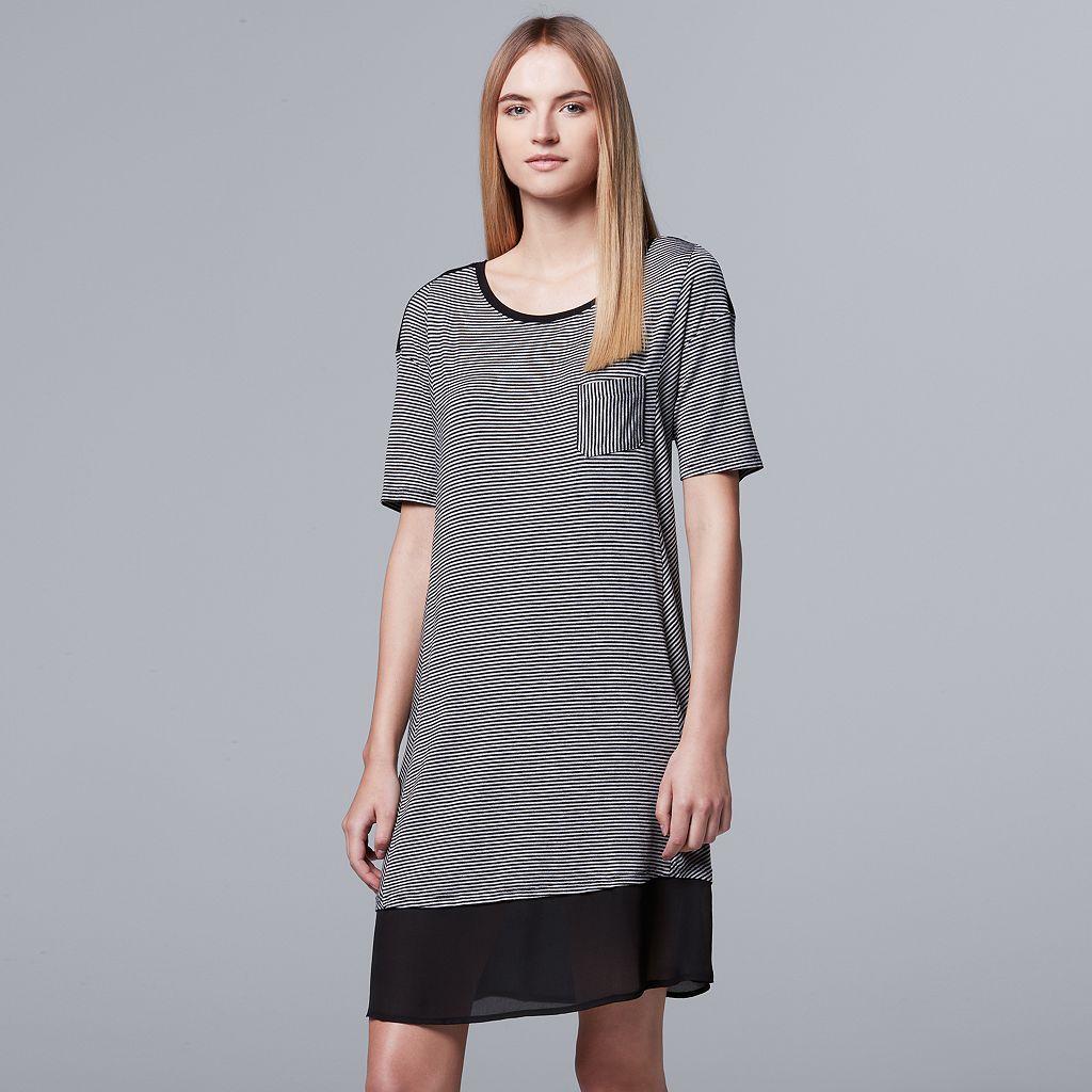 Women's Simply Vera Vera Wang Pajamas: Midsummer Story Short Sleeve Sleep Shirt