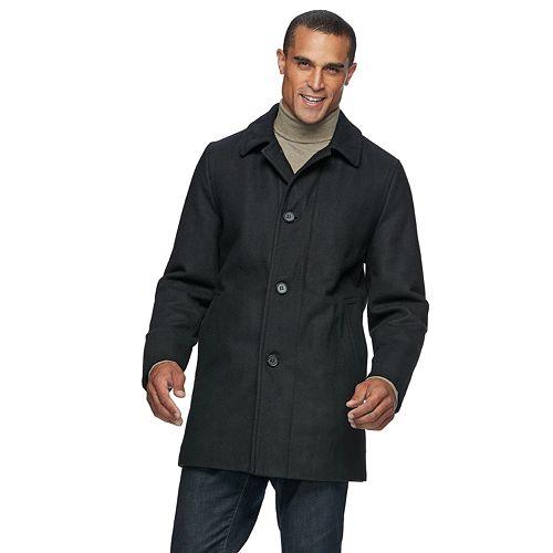 Men's Ike Behar Seville Classic-Fit Wool-Blend Top Coat