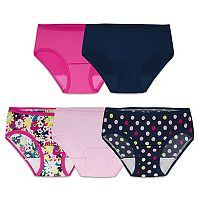 Girls 6-16 Fruit of the Loom 5-pk. Microfiber Hipster Panties