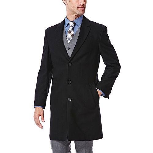 Big & Tall Ike Behar Modern-Fit Wool-Blend Top Coat