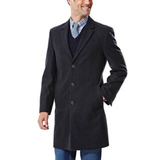 Big & Tall Ike Behar Modern-Fit Wool-Blend Top Coat