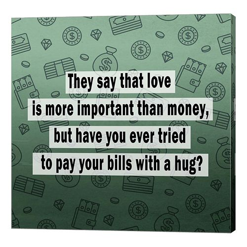 Metaverse Art Love vs. Money II Canvas Wall Art