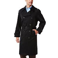 Big & Tall Ike Behar Classic-Fit Double-Breasted Rain Jacket