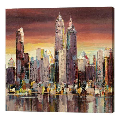 Metaverse Art Sera su New York Canvas Wall Art
