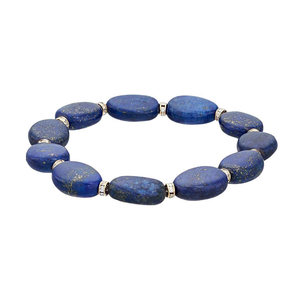 Chaps Stone & Rondelle Stretch Bracelet