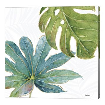 Metaverse Art Tropical Blush VII Canvas Wall Art