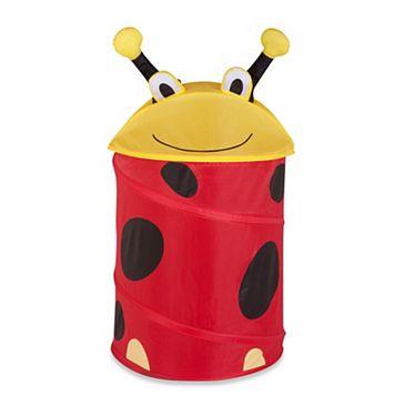 Kids Honey-Can-Do Ladybug Pop-Up Hamper